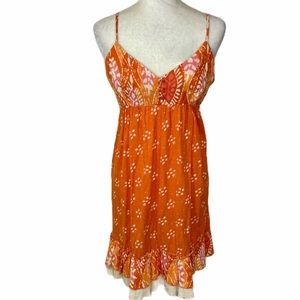 Boho summer ruffle midi sundress size large midi